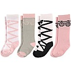 Luvable Friends® Size 0-6M 4-Pack Ballet Knee High Socks