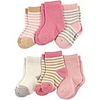 Touched by Nature Size 0-6M 6-Pack Girls Organic Cotton Socks in Pink