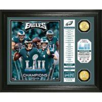 NFL Philadelphia Eagles Super Bowl 52 Champion Banner Photo Mint