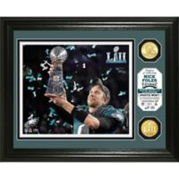 NFL Philadelphia Eagles Nick Foles Super Bowl 52 Trophy Photo Mint