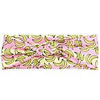 Tiny Treasures™ Novelty Knot All-Over Banana Headband in Pink/Yellow
