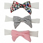 Tiny Treasures™ 3-Pack Novelty Soft Floral Bow Headbands