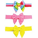 Tiny Treasures™ 3-Pack Rainbow Bow Headbands