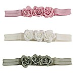 Tiny Treasures 3-Pack Girls Triple Rose Headbands