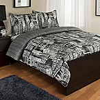 Madison Avenue 3-Piece Reversible King Comforter Set in Black