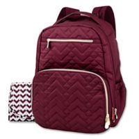 Fisher-Price® Quilted Backpack Diaper Bag in Burgundy