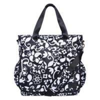 French Bull® Vine Tote Diaper Bag in Black/White