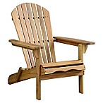 Acacia Wood Adirondack Folding Chair in Oil Finish