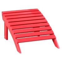 Acacia Wood Adirondack Ottoman in Red