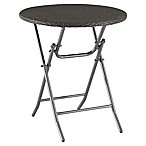Barrington Wicker Folding Bistro Table in Slate