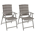 Barrington Folding Wicker Chairs in Oyster (Set of 2)