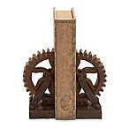 Ridge Road Décor Gear 2-Piece Bookend Set in Brown