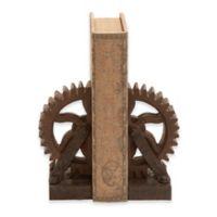 Ridge Road Décor Gear 2-Piece Bookend Set in Brown