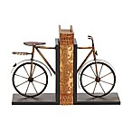 Ridge Road Décor Bicycle 2-Piece Iron Bookend Set in Black