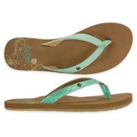 Cobian® Hanalei Size 10 Women's Flip-Flops in Seafoam