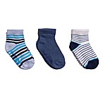 Cuddl Duds® Size 12-24M 3-Pack Low-Cut Socks in Blue