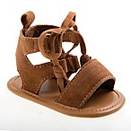 Laura Ashley® Size 0-3M Bow Front Sandal in Brown