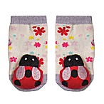 Cuddl Duds® Size 0-6M Ladybug Rattle Socks in Red