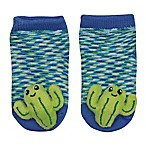 Cuddl Duds® Size 0-6M Cactus Rattle Socks in Blue