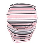 Balboa Baby® Multi-Use Car Seat Cover in Grey & Pink Stripe