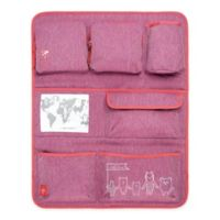 Lassig Wrap-to-Go About Friends Car Organizer in Mélange Pink