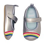 carter's® Size 0-3M Rainbow Mary Jane Shoe in Silver