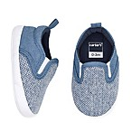 carter's® Size 6-9M Chambray Slip On Sneaker in Blue
