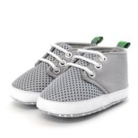Stepping Stones Size 0-3M Mesh Sneaker in Grey