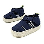 Stepping Stone Size 0-3M Canvas Espadrille Sandal in Navy
