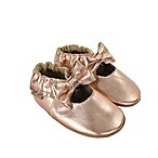 Robeez Size 0-6M Rosie Moccasin in Gold