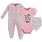 Hudson Baby® Size 0-3M 3-Piece BeYOUtiful Layette Set