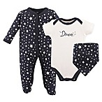 Hudson Baby® Size 0-3M 3-Piece Dream Layette Set