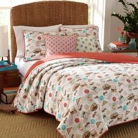 Nine Palms Havana Reversible Full/Queen Quilt Set in Brown