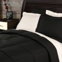 Clean Living Stain/Water Resistant 2-Piece Twin XL Comforter Set in Black