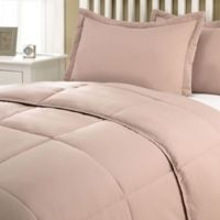 Clean Living Stain/Water Resistant 2-Piece Twin XL Comforter Set in Taupe