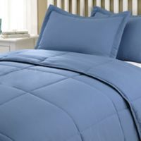 Clean Living Stain/Water Resistant 2-Piece Twin XL Comforter Set in Smoke Blue