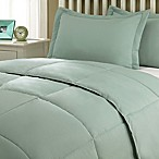 Clean Living Stain/Water Resistant 3-Piece Full/Queen Comforter Set in Sage