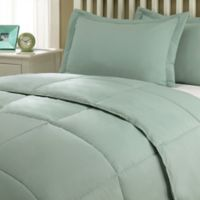 Clean Living Stain/Water Resistant 2-Piece Twin XL Comforter Set in Sage