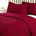 Clean Living Stain/Water Resistant 3-Piece King Comforter Set in Red
