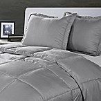 Clean Living Stain/Water Resistant 3-Piece King Comforter Set in Silver