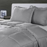 Clean Living Stain/Water Resistant 2-Piece Twin Comforter Set in Silver