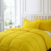 Clean Living Stain/Water Resistant 2-Piece Twin Comforter Set in Yellow