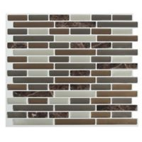 Peel & Impress™ 4-Pack Peel and Stick Oblong Marble Wall Tiles in Brown