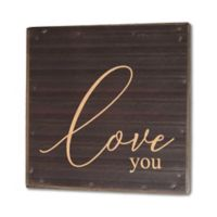 Second Nature By Hand Love You 10-Inch Square Reclaimed Steel Sign