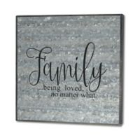 Second Nature By Hand Family 10-Inch Square Reclaimed Steel Sign