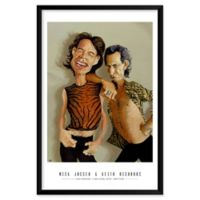 "Artography Limited Mick Jagger & Keith Richards 25"" x 37"" Wall Art"
