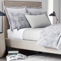 Modern Living Woven Stripe King Coverlet in Grey