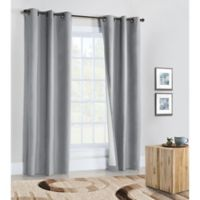 Weathermate 54-Inch Grommet Top Window Curtain Panel Pair in Silver