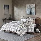 INK+IVY Sterling Plaid King/California King Duvet Cover Set in Blue/Grey