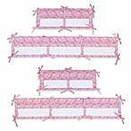 Little Love by NoJo® Giraffe Time 4-Piece Crib Liner in Pink